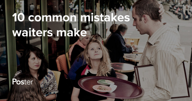 10 Common Mistakes Waiters Make Poster