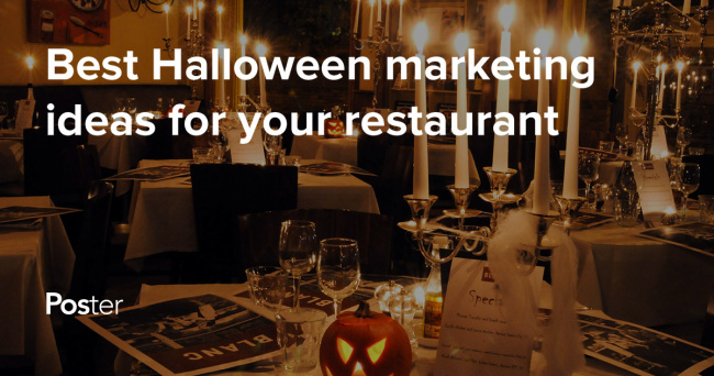 Halloween Promotions Marketing Ideas For Restaurants And Bars Poster Pos