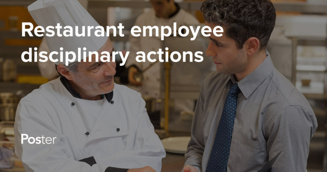 Types of disciplinary measures for restaurant employees