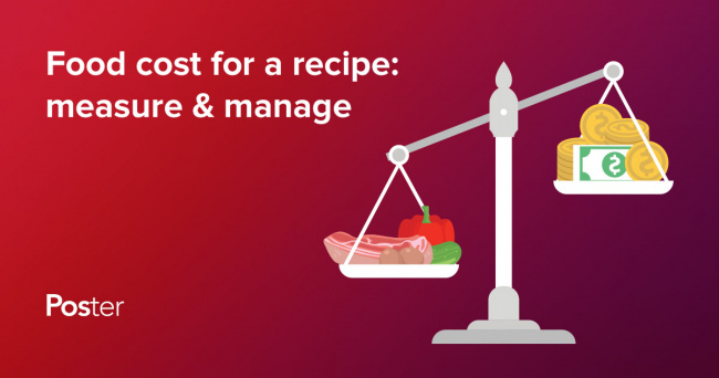 How to calculate the food cost for a recipe