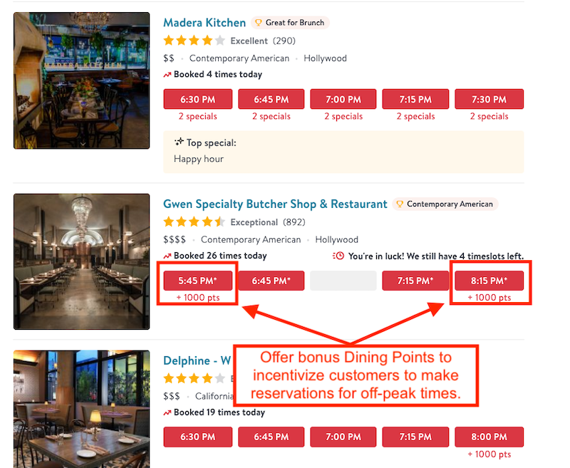 Restaurant reviews on OpenTable