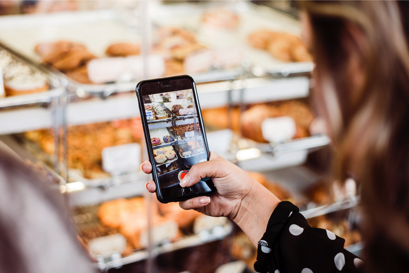 bakery on social media